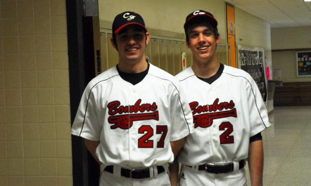 Captains Bryce Boyle Hoban and Hunter Blakeslee look forward to a nw baseball season