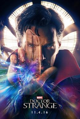 Press release of the movie Doctor Strange featuring the movie's star, Benedict Cumberbatch