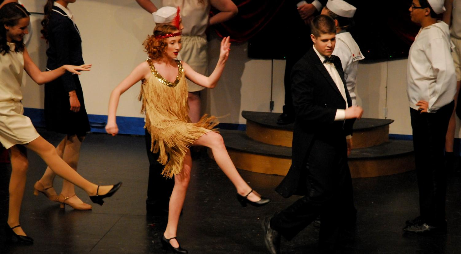 Vienna Qualey dances as Erma Latour in Anything Goes.