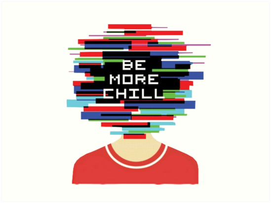 Cover art of the musical, Be More Chill.