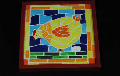 Fluffy chick mosaic by Tessa Barnes