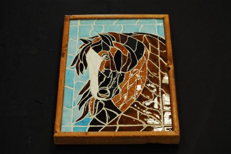 Horse mosaic by Hannah Delk
