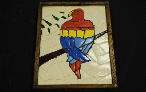 Bird mosaic by Vanessa Parrott