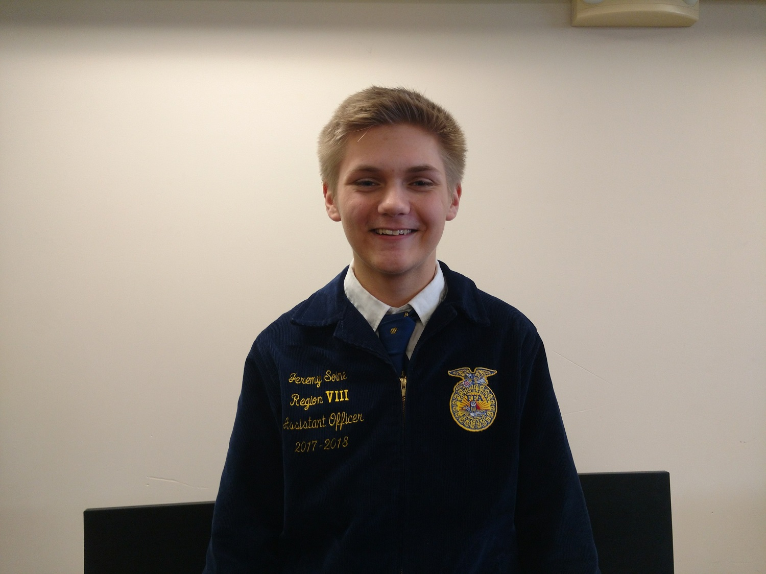 Jeremy Soine is the Cannon Falls FFA president