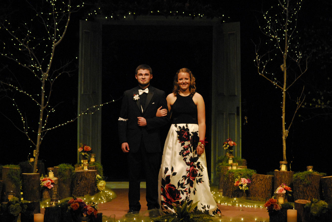 Garett Klavon and Avery Dicke at Grand March for the 2017 prom.
