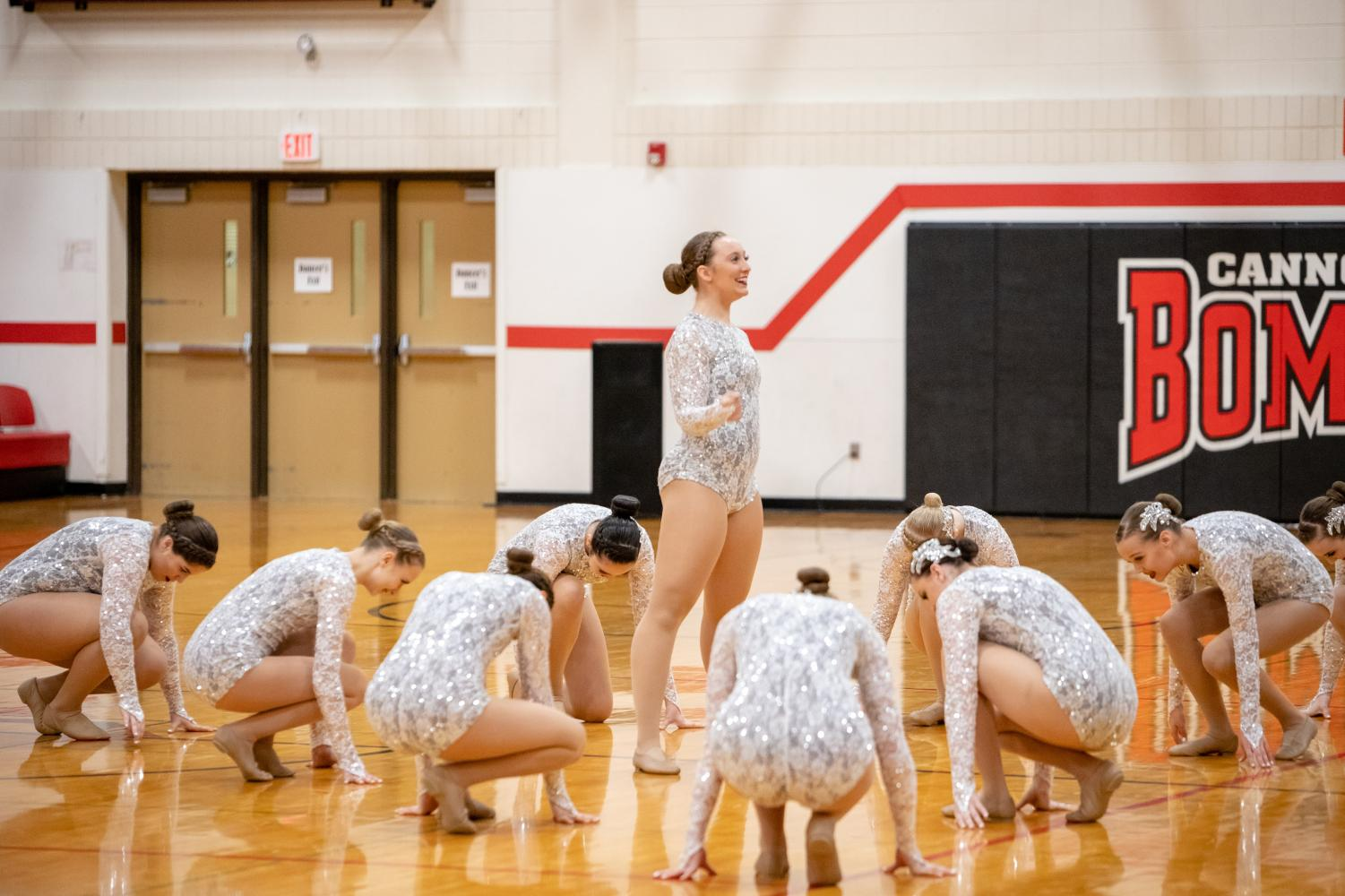 The team dances at the Cannon Falls competition.
