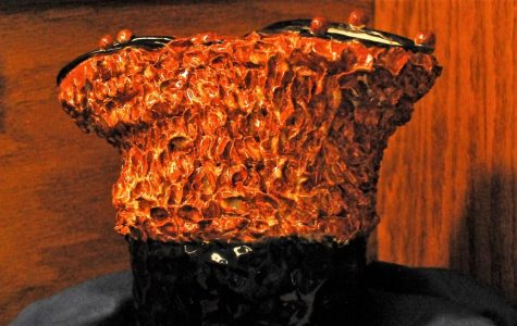 Brown and black texture pot – Sam Graybill
