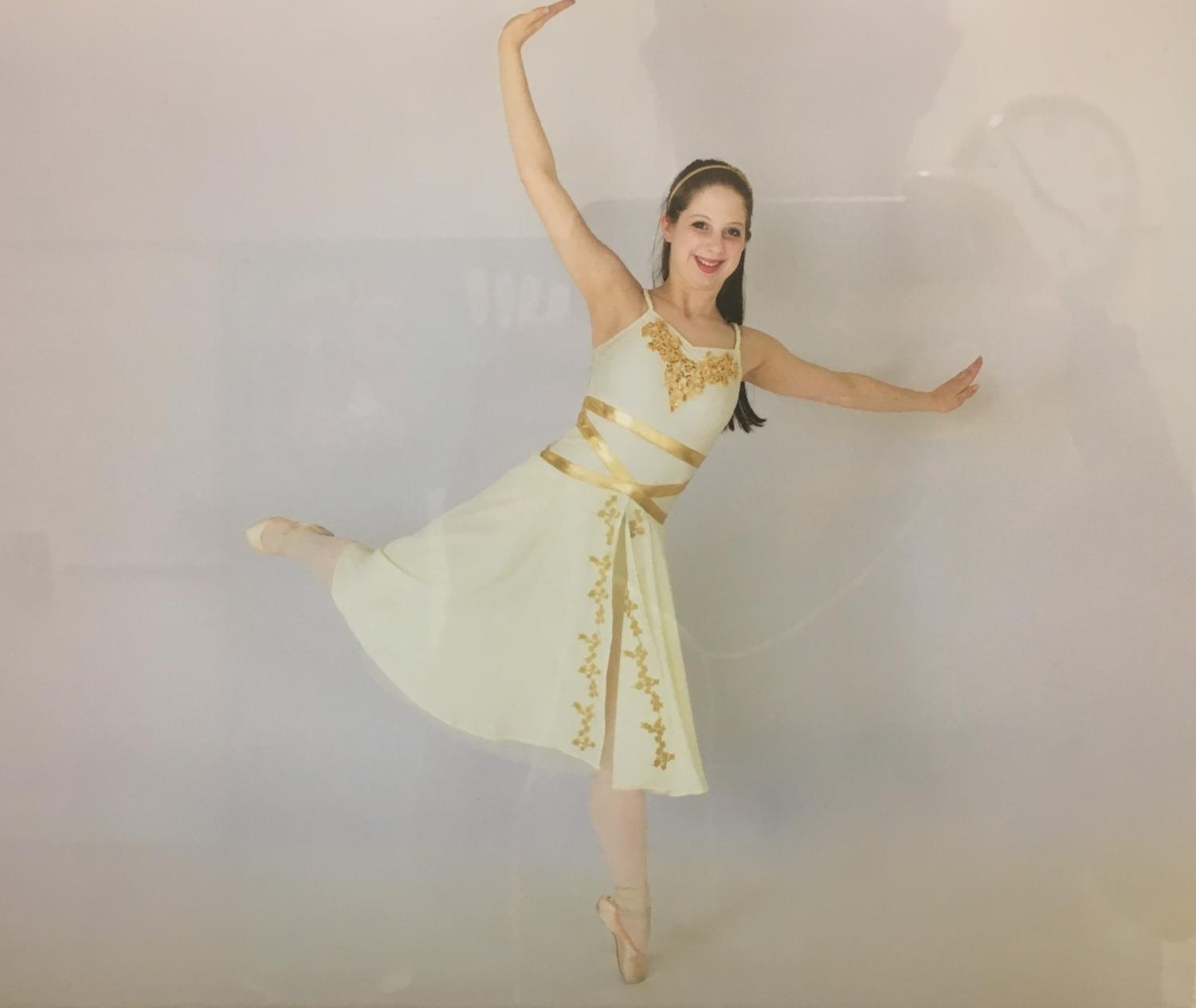 Balerina Abby Barrett poses in her performance outfit