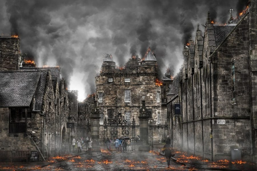 Destruction+caused+by+a+zombie+apocalypse.+