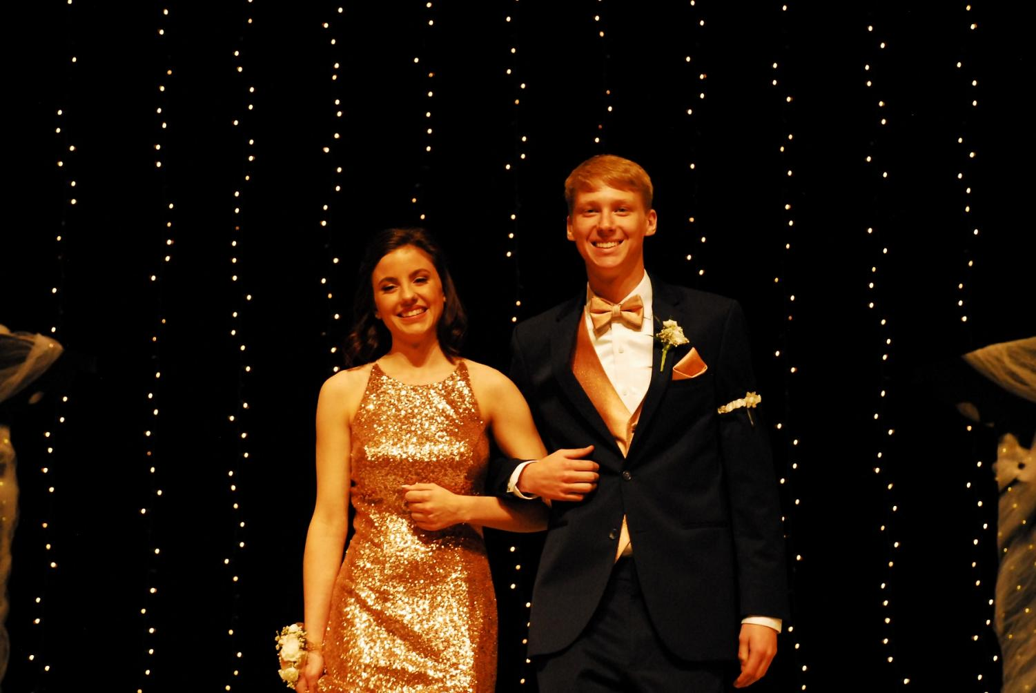 Catie Kodada and Brodie Hansen at grand march.
