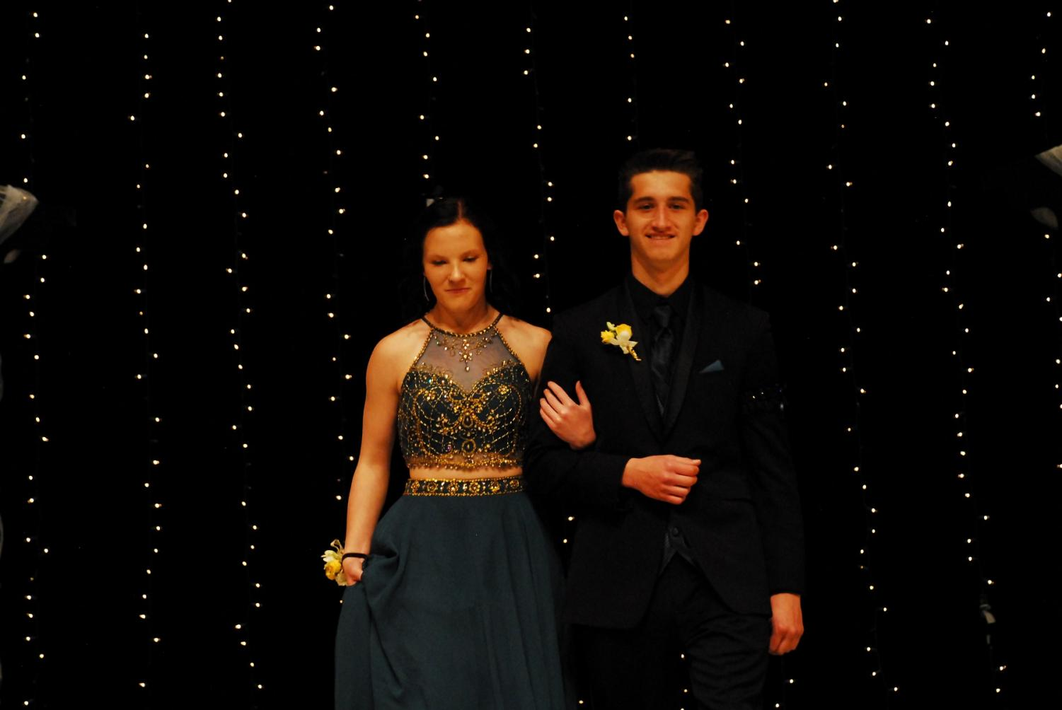 Julia Jarvi and Vince Davisson at grand march