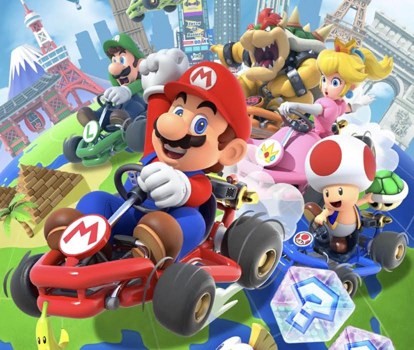 Mario+Kart+loads+on+the+mobile+app.