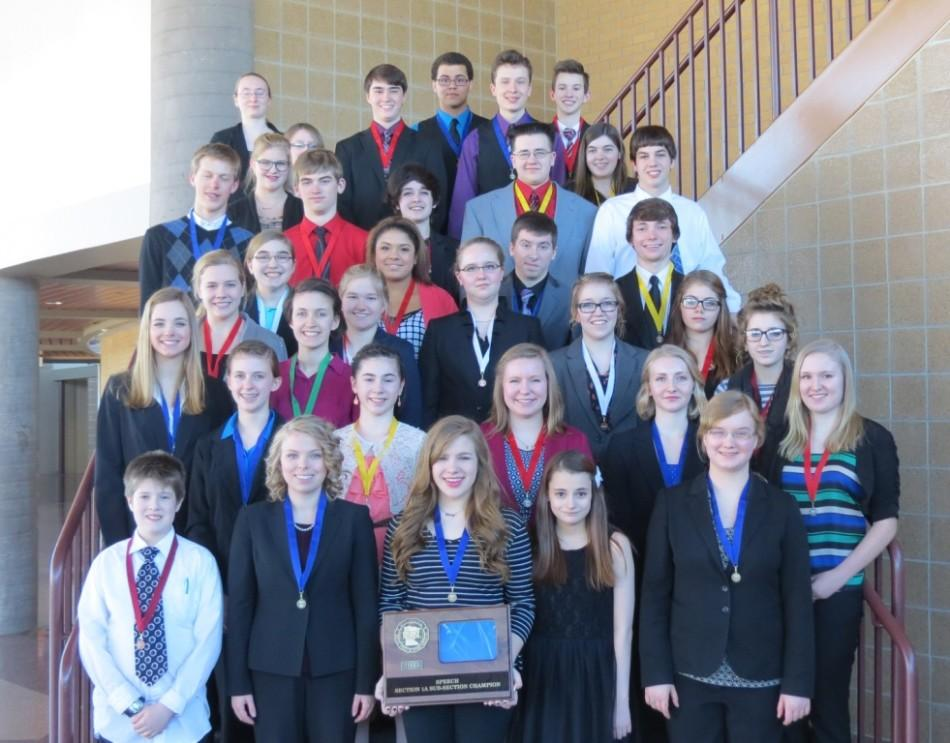 CFHS sub-section champion speech team - photo by Cal Vandehoef