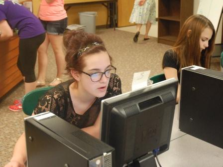 Eighth graders Carley Norton and Katie Fales prepare for their last days of middle school