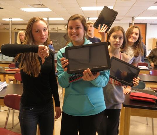 freshmen express varied opinions on the new tablets