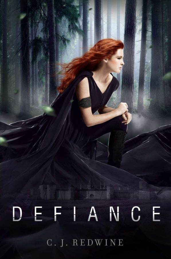 Press release of the cover of C. J. Redwines novel Defiance
