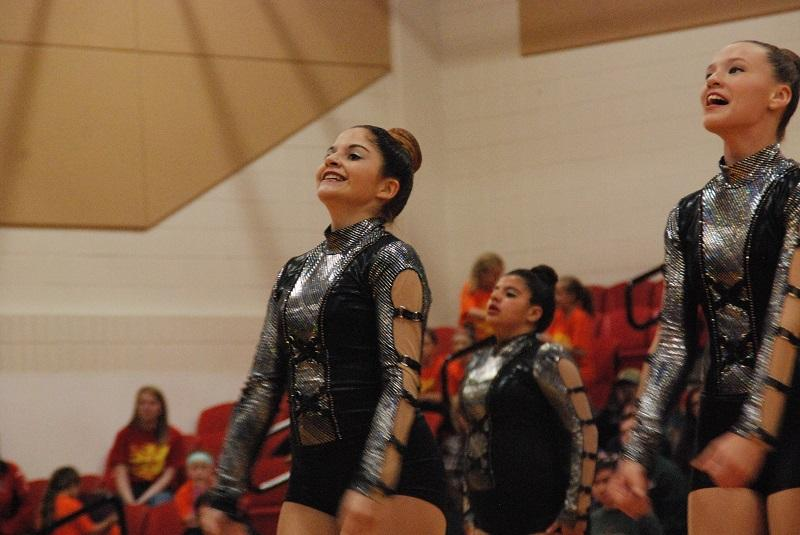 JV dancers perform early in the season