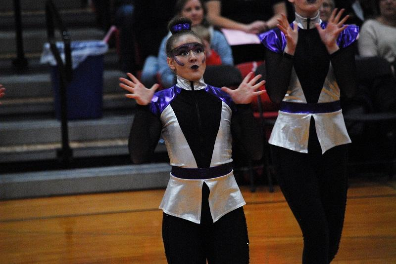 Brooke Kimmes uses facial expressions to enhance the dance.