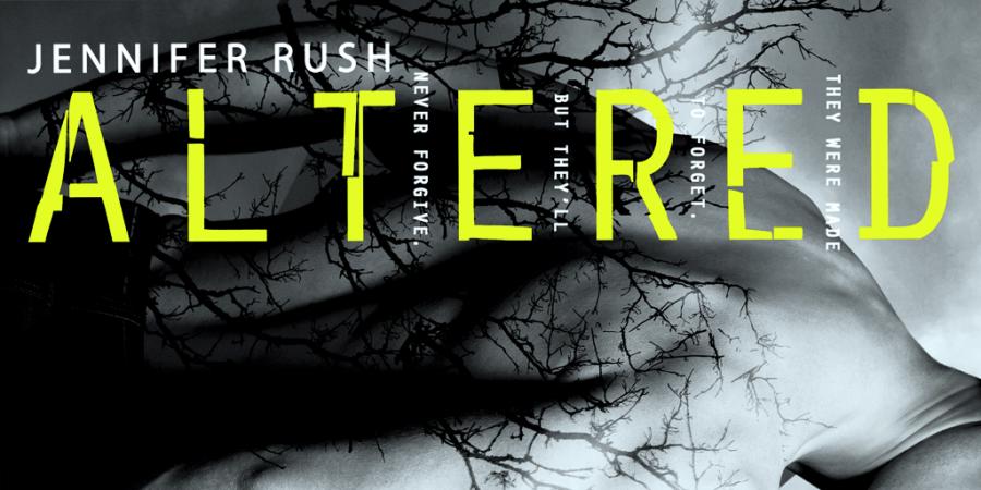 Ominous cover art on the novel Altered