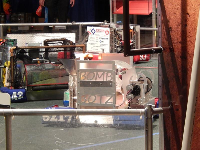 The CFHS robotics entry takes on the competition
