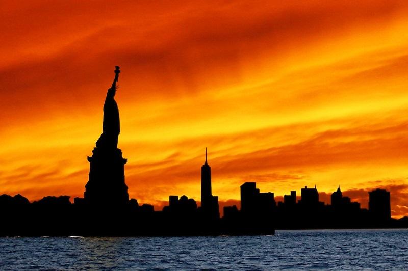 Skyline Statue Of Liberty Statue Silhouette Liberty