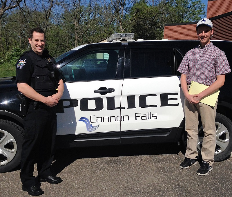 The author begins his ride-along with Cannon Falls officer Paul Larson