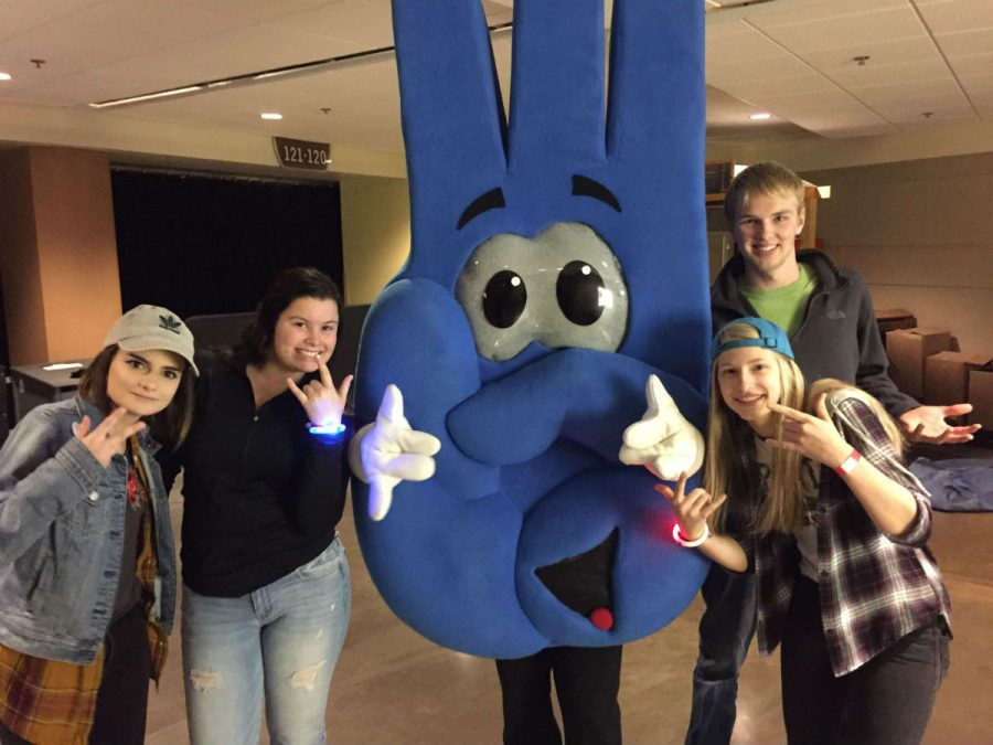 We Day participants celebrated with the official mascot