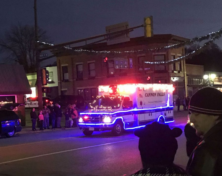 Crowds filled the streets of Cannon Falls to see the annual light show