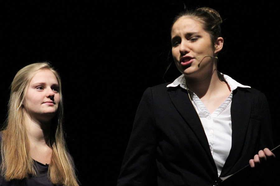 Anna Schroeder  teaches Isabel Crosby a lesson in breaking up