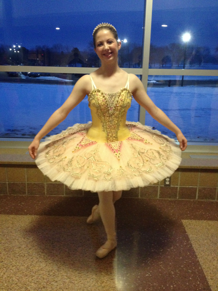 Abby Barrett poses before the show.