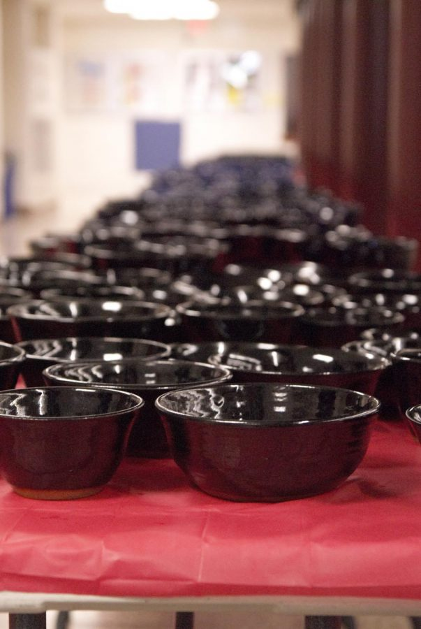 Bowls were the reward for each guest purchasing a ticket at the Humanities dinner