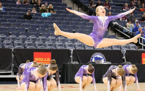 Junior Brooke Beissel doing her solo at state.