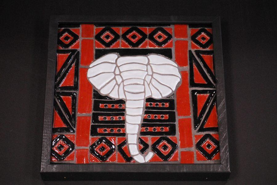 Elephant mosaic by Tatum Pickar