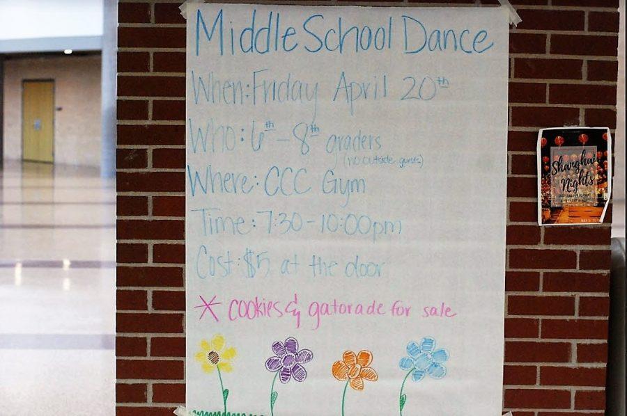 The Middle School Spring Fling Dance is happening this weekend