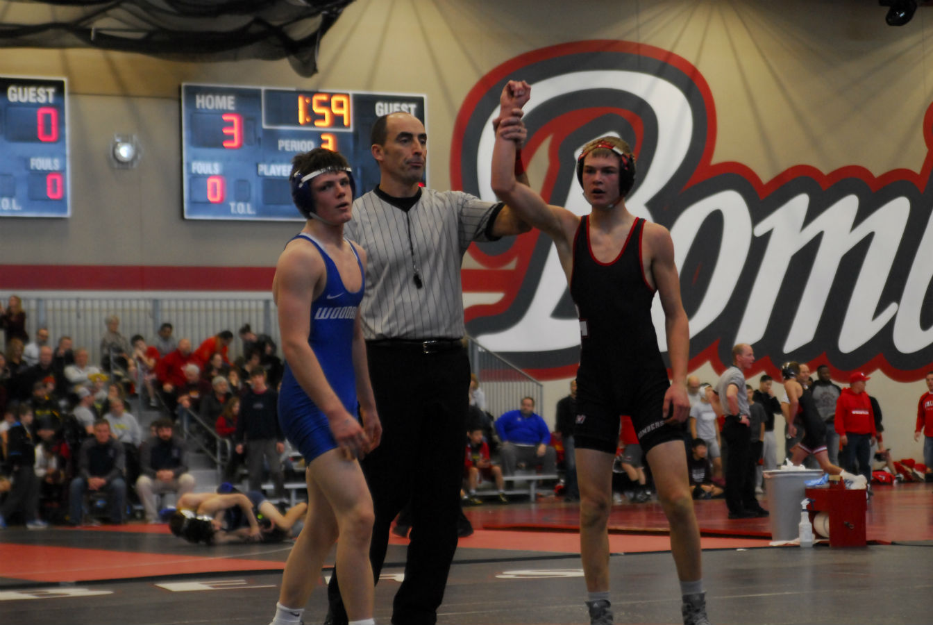 Cooper Peterson wins his match.