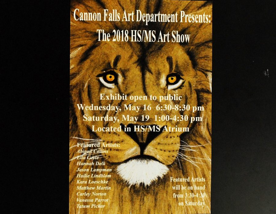 The CFHS art show features a variety of media