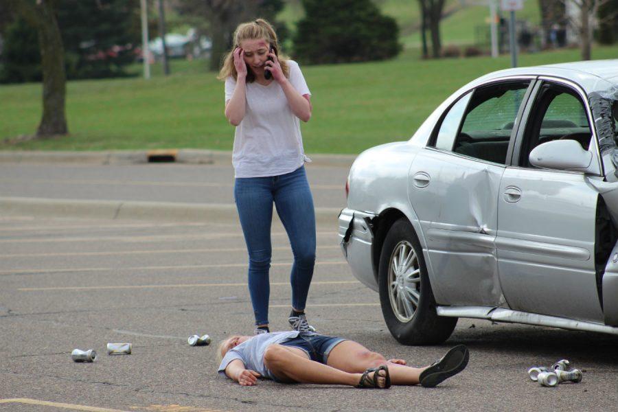 Molly Bowen calls 911 after the crash.