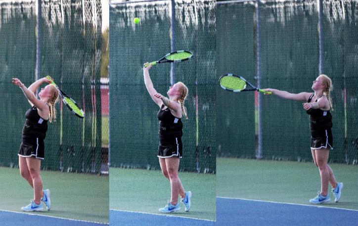 Laurie+Miller+gets+set+to+return+a+serve
