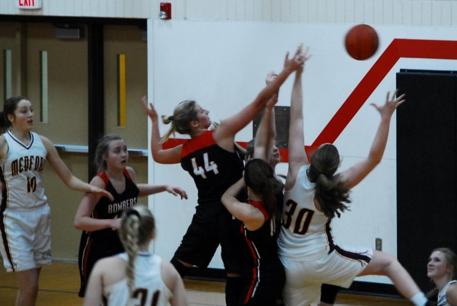 The girls' basketball team takes on Medford in an early season non-conference game
