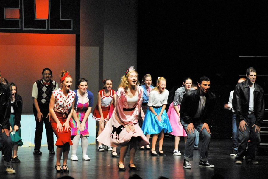 Theater kids wrap up Act 1 with the song,