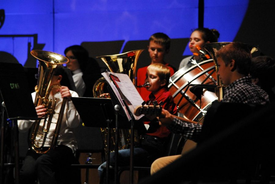 The Middle School Christmas band concert
