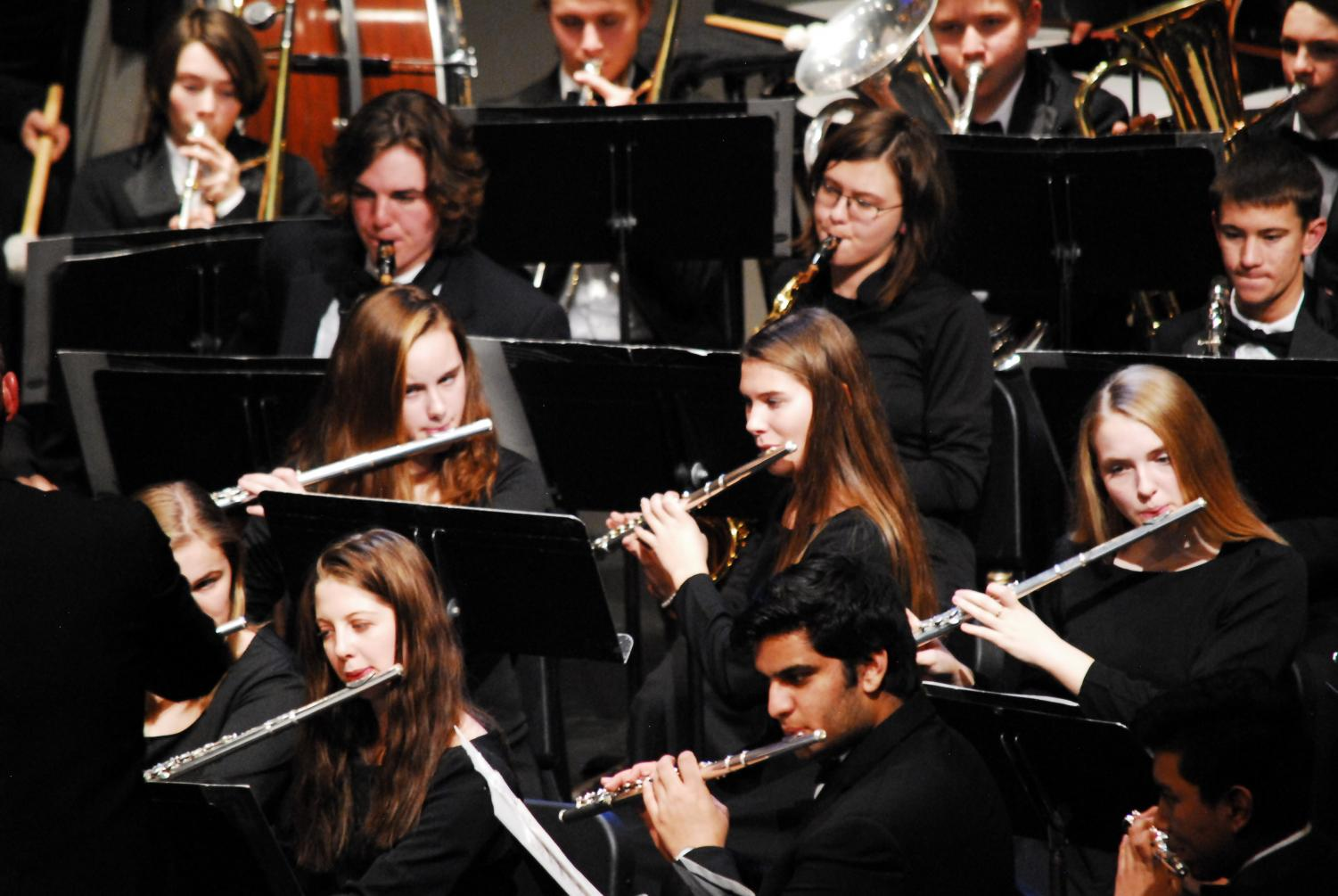 Cannon Falls High School Band plays their music for contest.