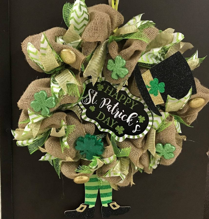 Mrs. Loeschke's St. Patrick's day wreath is the epiphany of the holiday