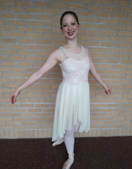 Abby poses for the camera after her recital