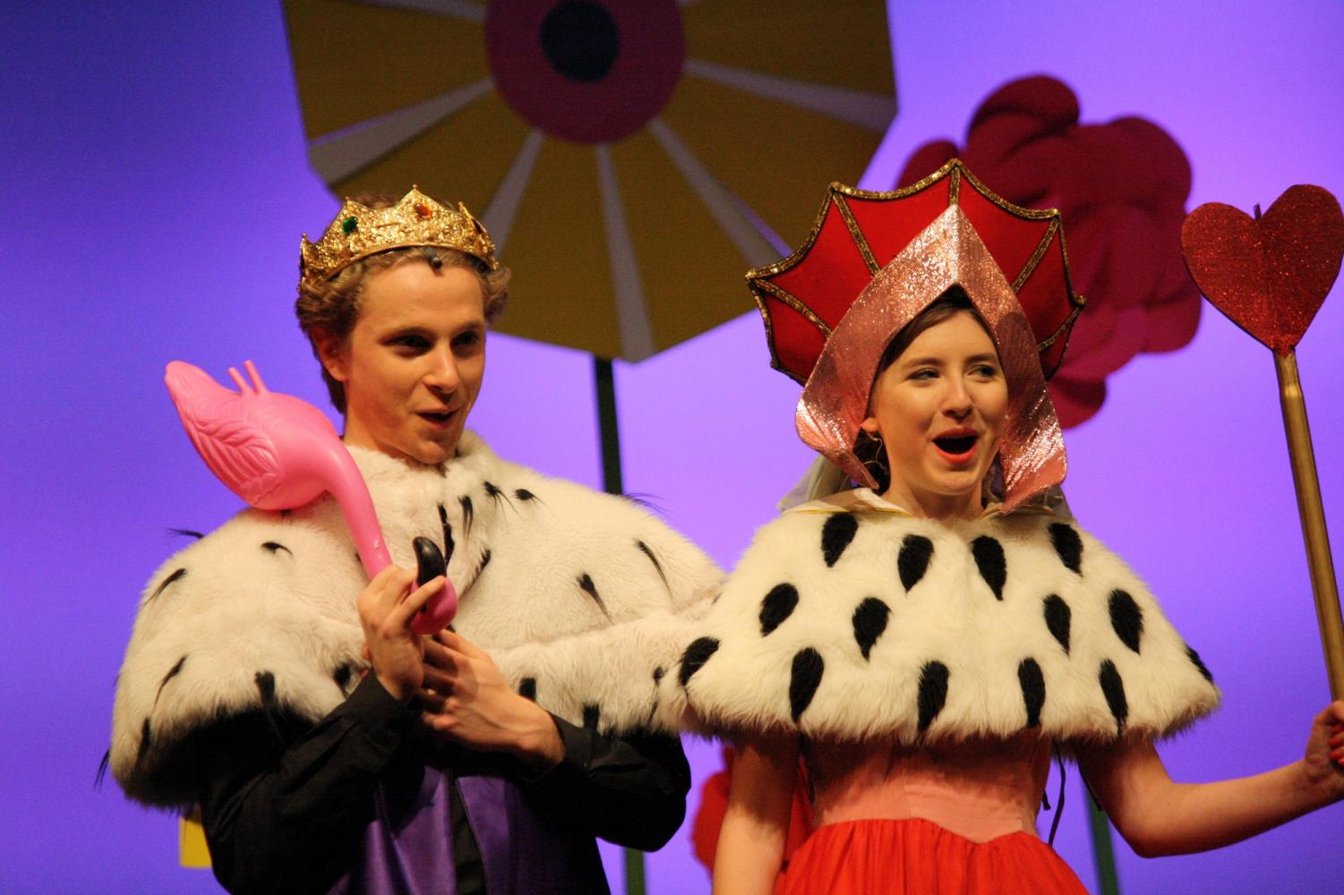 The King and Queen of Hearts enjoy a moment during Alice @ Wonderland