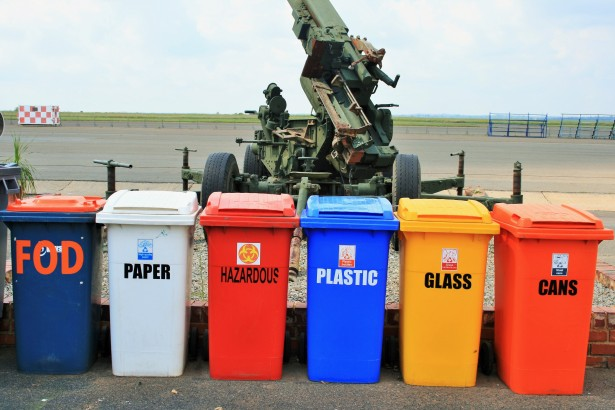 There are many different ways someone can recycle.