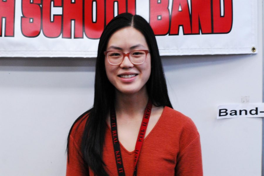 Angela Wong, from St. Olaf, is working with the music department this spring