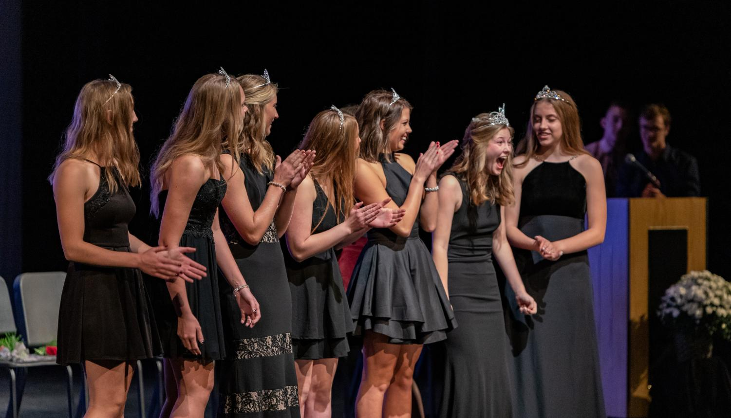 After the crown was placed on top of her head, Anna Giese had a priceless reaction.
