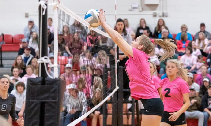 Fingertips can make the difference in the homecoming volleyball game