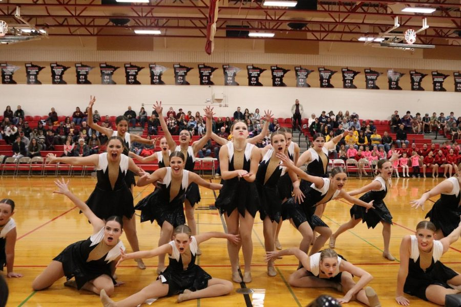 The Bomber Dance Team finished their performance in a big way on Saturday
